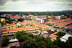 View of Tuaran town.