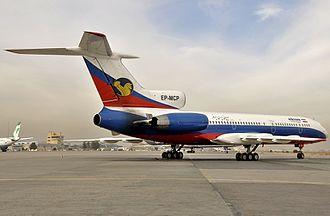Iran Air Tours - A former Iran Air Tours Tupolev Tu-154M at Mashhad International Airport in 2011