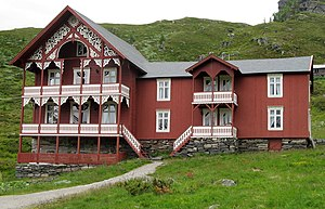 Turtagrø - The old annex from 1888, (the hotel built by Øiene)