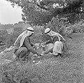 Twee arabieren bezig met het zetten van koffie in de openlucht, Bestanddeelnr 255-1433.jpg