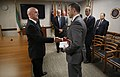 U.S. Customs and Border Protection Deputy Commissioner Kevin K. McAleenan shakes hands with Deputy General, Danish Customs and Tax Administration Preben Bucholtz Hansen.jpg