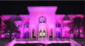 U.S. Embassy in Qatar lit in pink for 2018 BCAM.png