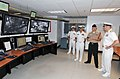 U.S. Navy Rear Adm. Mark L. Tidd, right, chief of Navy chaplains, tours the Master Control room of the Navy's largest simulator, the USS Trayer (BST 21), with facilitator Mineman 1st Class Toby Mozek 120803-N-IK959-359.jpg