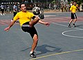U.S. Soldiers with the 5th Battalion, 7th Air Defense Artillery Regiment and Israeli soldiers compete in a soccer game during a field competition as part of Austere Challenge 2012 in Hazor, Israel 121101-F-QW942-266.jpg