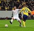 UEFA EURO qualifiers Sweden vs Spain 20191015 Fabian Ruiz and Robin Quaison 2.jpg