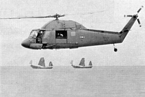 Kaman SH-2 Seasprite - UH-2 in flight over the Tonkin Gulf, 1970