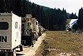 UNPROFOR Dutch Transportbatallion en route in Bosnia-Herzegovina. Route Triangel April 1995. Pause.jpg