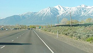 U.S. Route 395 in Nevada - Looking south on US 395, just south of US 50 near Carson City