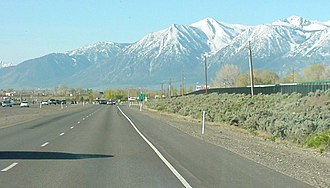 Carson City, Nevada - Looking south on US 395, just south of US 50 in Douglas County near Carson City