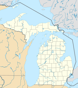 Map showing the location of Van Riper State Park
