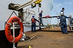 USNS Mercy crew transfers surgery patients ashore during Pacific Partnership 2015 150823-F-YW474-150.jpg