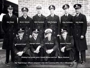 USS-Audubon Boat-Group-Officers Dec-1944.png