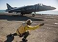 USS Bonhomme Richard conducts flight operations. (9442195387).jpg