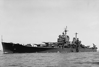 USS Chicago (CA-136) - Chicago in May 1945.