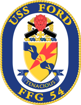 USS Ford (FFG-54) - Image: USS Ford FFG 54 Crest