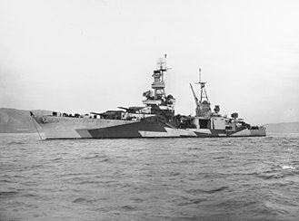 USS Louisville (CA-28) - Image: USS Louisville (CA 28) off the Mare Island Naval Shipyard on 17 December 1943 (19 N 57222)