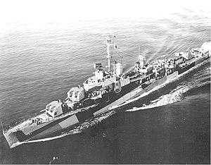 USS Mannert L. Abele (DD-733) underway at sea on 1 August 1944 (80-G 382764)