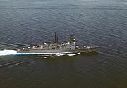 USS Oldendorf (DD-972) aerial stbd view