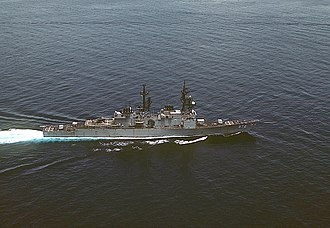 USS Oldendorf - Oldendorf aerial view