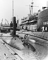 USS Shark (SSN-591), USS Triton (SSN-586) and USS Orion (AS-18) at San Juan PR in 1965.jpg