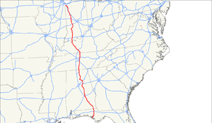 U.S. Route 231 - Image: US 231 map