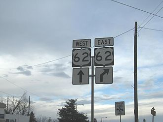 U.S. Route 62 in Oklahoma - US-62 signage in Harrah