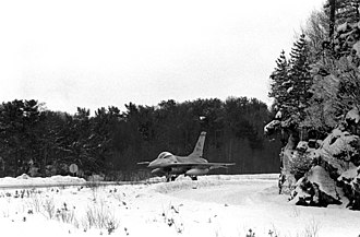 Bergen Airport, Flesland - US Air Force General Dynamics F-16 Fighting Falcon visiting Flesland Air Station in 1981