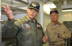 Frank Bowman - Touring the USS Ronald Reagan