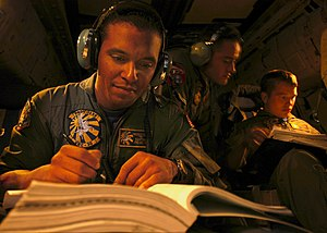 NATOPS - Sailors studying for the NATOPS exam