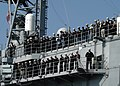 US Navy 031105-N-7188W-002 Sailors aboard USS Princeton (CG 59) man the rails.jpg