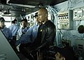 US Navy 061204-N-9479M-003 Talk show host and retired naval officer Montel Williams pilots the Nimitz-class aircraft carrier USS Dwight D. Eisenhower (CVN 69).jpg