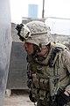 US Navy 081029-M-0301S-547 Hospital Corpsman 1st Class Patricio Lanas inspects all areas on a patrol.jpg