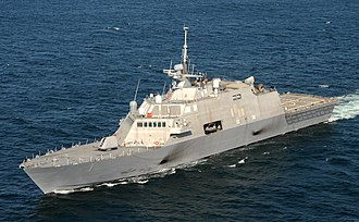 USS Freedom (LCS-1) - USS Freedom with original gray paint scheme in September 2009