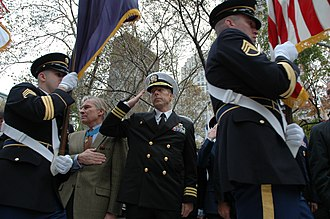 Paul Bucha - Bucha (2nd from left) at the 2009 New York City Veterans Day parade
