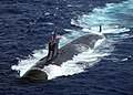 US Navy 091117-N-6720T-373 The Seawolf-class attack submarine USS Connecticut (SSN 22) is underway in the Pacific Ocean.jpg