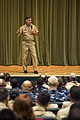 US Navy 100629-N-7526R-058 Vice Adm. Mark Ferguson, Chief of Naval Personnel, addresses military members and civilians from various Naples-area commands during an all-hands call.jpg