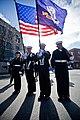 US Navy 101111-N-1317D-093 Hospital Corpsman 1st Class Nancy O'Reilly, left, Hospital Corpsman 3rd Class Davis, Logistics Specialist 1st Class Aric.jpg