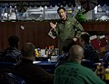 US Navy 101214-N-7981E-090 Vice Adm. Allen G. Myers addresses the Chief Petty Officer Mess during a visit aboard USS Carl Vinson (CVN 70).jpg