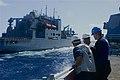 US Navy 110512-N-BM466-008 Sailors watch as USS Preble (DDG 88) comes alongside USNS Alan Shepard (T-AKE 3) to conduct an underway replenishment.jpg