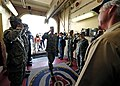 US Navy 110707-N-EP471-001 Air Force Gen. Douglas Fraser salutes civilian Master Capt. Randall Rockwood, assigned to the Military Sealift Commmand.jpg