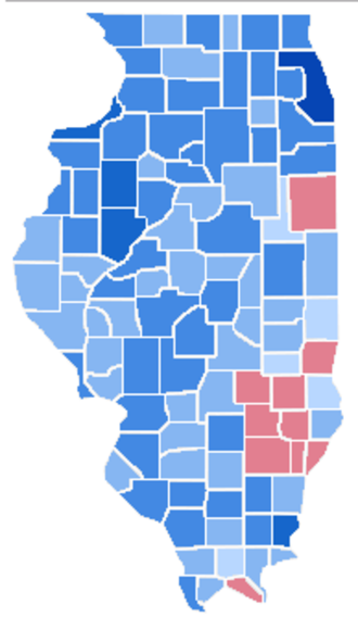 United States Senate election in Illinois, 2004 - Image: US Senate Election in Illinois 2004 Results