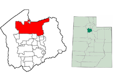 Location of Salt Lake City in Salt Lake County, Utah