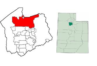 Salt Lake City Police Department - Image: UT Map doton Salt Lake City