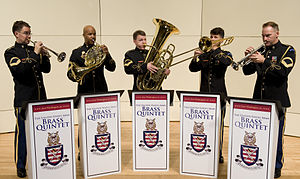 United States Army Band - The Army Brass Quintet during a performance in 2010.