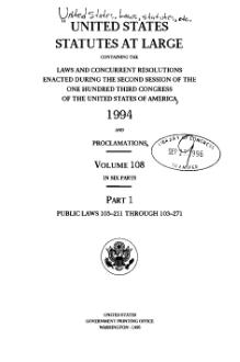 United States Statutes at Large Volume 108 Part 1.djvu