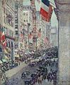 Up the Avenue from 34th Street, Hassam.jpg