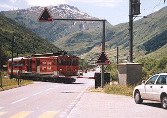 Furka Oberalp Railway - A train near Realp