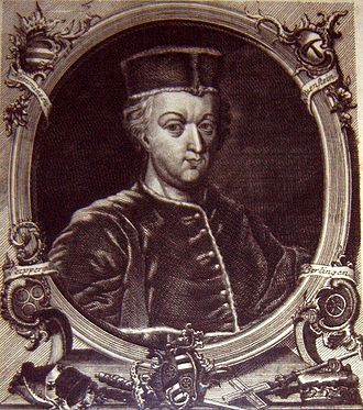 Uriel von Gemmingen - Uriel of Gemmingen, archbishop of Mainz and chancellor of the German Reich. (Woodcut)
