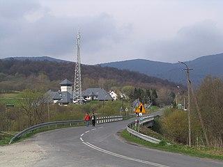 Ustrzyki Górne Village in Subcarpathian Voivodeship, Poland