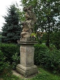 Vřeskovice, socha svatého Jana Nepomuckého.jpg